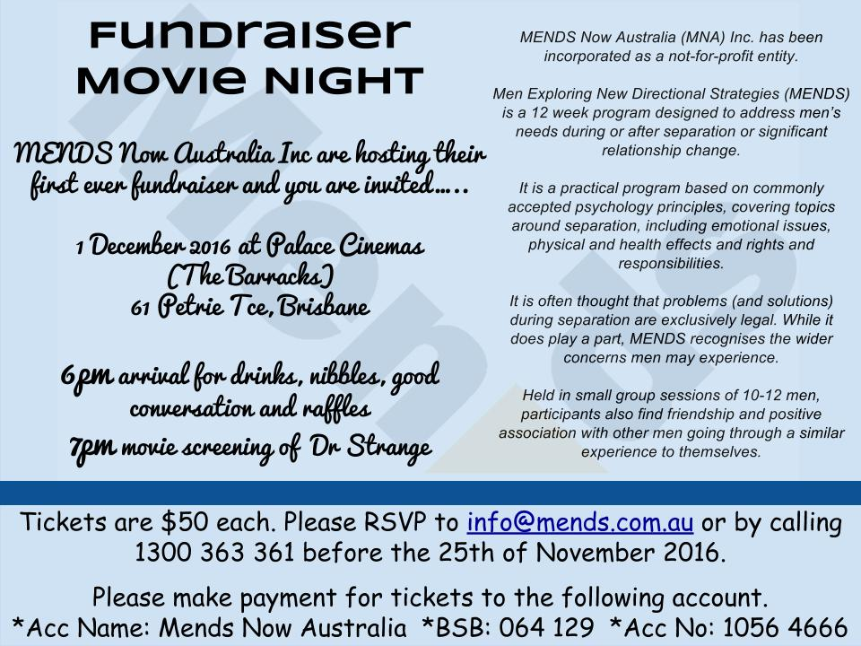 MENDS Fundraiser Invitation